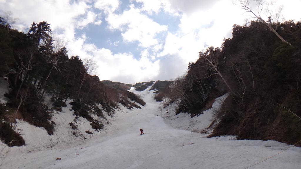 常念岳 バックカントリーツアー-020