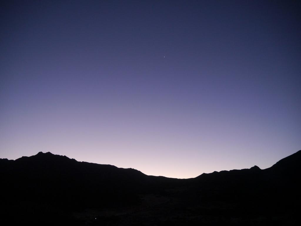 水晶岳朝焼け