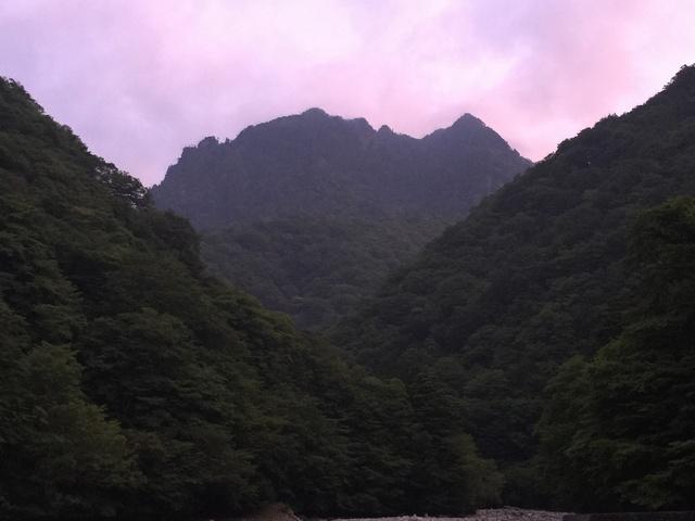 鶏冠山_朝焼け